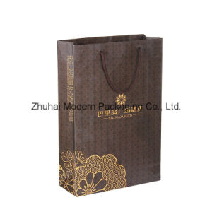 Customized Design Luxury Paper Bag with Logo Stamping pictures & photos