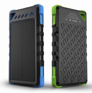 Waterproof Dual USB 2A 8000mAh Mini Solar Power Bank for Smartphone