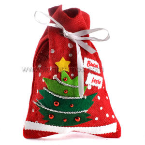 Christmas Gift Jute Material Santa Sack pictures & photos