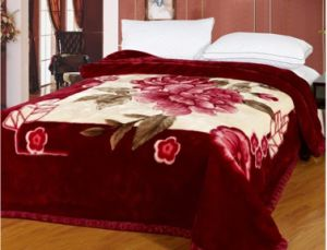 100% Polyester Raschel Mink Blanket