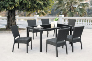 Nice Design All-Weather Wicker 7-Piece Rectangular Dining Set (BZ-D050)
