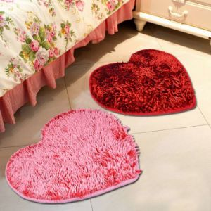 Home Tufted Chenille Microfiber Polyester Area Rug Bath Mat (50*60)