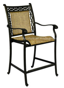 Santa Monica Outdoor Swivel Sling Patio Bar Stools for Us Hotel Restaurant Club Deck and Pool pictures & photos