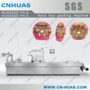 Automatic Stretch Film Thermoforming Vacuum Packing Machine for Cakes pictures & photos
