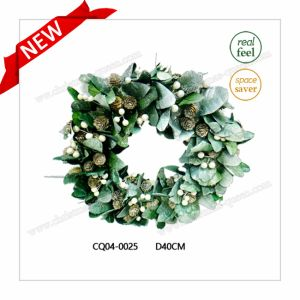 Dia. 35cm Newly Home Hotel Decoration Christmas Flower Wreath Plastic Outdoor Decoration pictures & photos