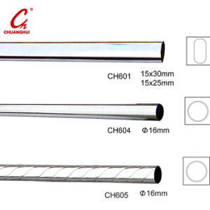 Round Chrome Curtain Iron Steel Pipe Tube Pole Rod (CH601) pictures & photos