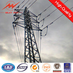 10 Kv Steel Transmission Pipe Pole Tension Tower pictures & photos