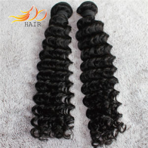 Peruvian Virgin Hair Extension Deep Wave Remy Human Hair Weaving pictures & photos