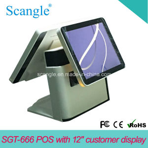 15inch Dual Screen All in One Touch POS System Sgt666 pictures & photos