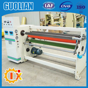 Gl-806 Stretch Film Jumbo Roll Adhesive Tape Rewinding Machine pictures & photos