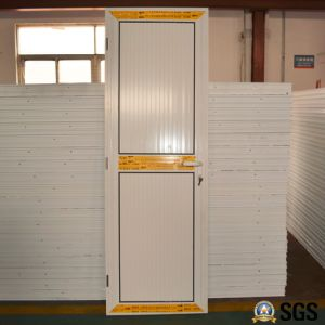 White Colour Powder Coated Aluminum Casement Door with Aluminium Panel Small Size K06016 pictures & photos