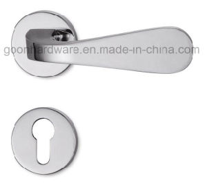 High Quality Zinc Alloy Door Handle on Rose - 207 pictures & photos