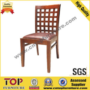 Leather Seat Wooden Restaurant Dining Chair pictures & photos