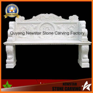 White Marble Stone Carving Bench for Garden or Square Place Decoration (NS-11B4) pictures & photos