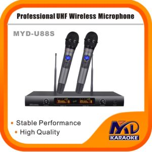 Multi-Frequency Dual Channels UHF Wireless Microphone pictures & photos