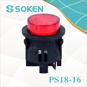 Round Light Push Button Switch 1 Pole pictures & photos