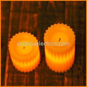 Irregular LED Wax Candle, Pillar Flamess LED Candle, Battery Flameless Candle