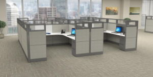Fsc Forest Certified Approved by SGS Combination Partition Modern Unique Office Workstation Desk pictures & photos