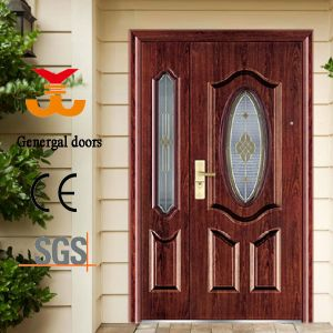 Steel House Entrance Doors with Glass pictures & photos