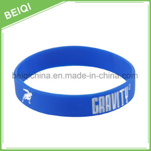 Factory Supply Debossed with Color Custom Rubber Wristbands pictures & photos
