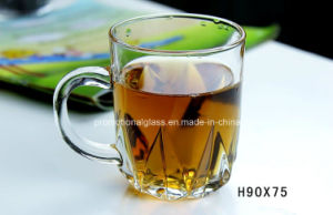 Glass Cup with Handle for Tea, Coffee