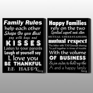 family rules motto print图片