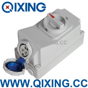 Industrial Cable Connector IP44 Interlock Switch Socket (QX7012) pictures & photos