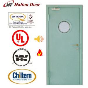 Steel Fire Door/Fireproofing Steel Door/BS Tested/UL Certified with Vision Glass/Fireproof Door pictures & photos