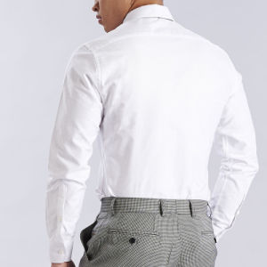 Men′s White Dress Shirt, 100% Cotton or 65% Polyester 35% Cotton Shirts pictures & photos