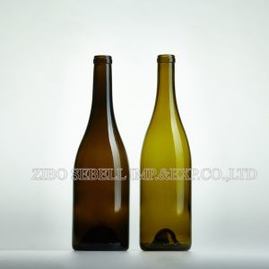 Burgundy Bvs Screwtop Antique Green Red Wine Glass Bottle (04-glass bottle) pictures & photos