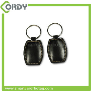 Smart Customize 13.56MHz RFID Programming Leather Keyfob for for Access Control pictures & photos