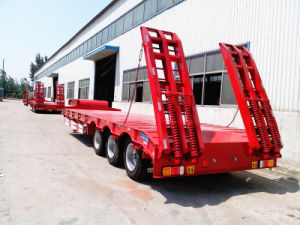 3 Axle 60 Ton Low Bed Semi Trailer