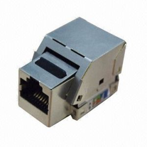 Cat5e FTP RJ45 Toolless Keystone Jack pictures & photos
