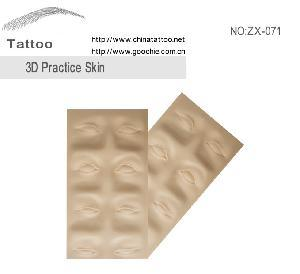 Goocchie C3d Rubber Tatctoo Practice Skin pictures & photos