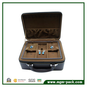 Now Luxury Double Leather Jewelry Box with Portable pictures & photos
