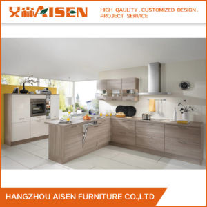 Modern Popular Kitchen Cabinet Melamine Lacquer Kitchen Cabinet pictures & photos