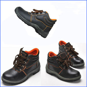 High Quality Black Leather Safety Boots for Construction pictures & photos