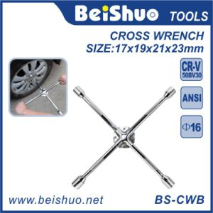 Auto Tools Universal Anti-Slip Lug Wrench, 4-Way Cross Wrench pictures & photos