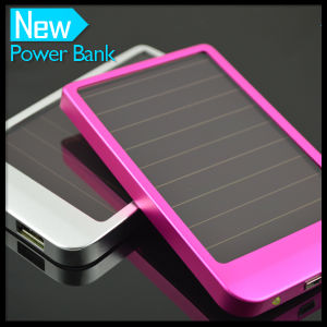 Solar Mobile Battery Charger 2600mAh Portable Power Bank pictures & photos