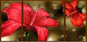 Hand Painted Modern Canvas Art Flower Oil Painting (FL3-185) pictures & photos