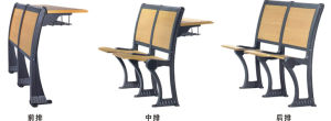 Hotsale Aluminium Frame School Desk and Chair (YA-011B) pictures & photos