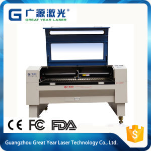 Fabric and Leather Pattern Laser Engraving Cutting Machine 80W pictures & photos