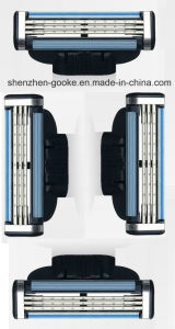 High Quality 3 Layer Shaver Head for Gillette Mach 3 in Original Case Razor Head *4 with Free Handle pictures & photos