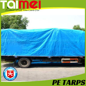 High Quality PE Tarpaulin/Tarps with PP Rope Reinforced and Aluminum Eyelets Every One Meter pictures & photos