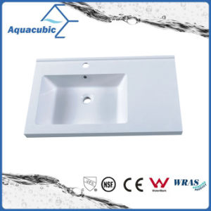 Single Bowl Rectangular Artificial  Marble  Sink Tops Acb0702 pictures & photos