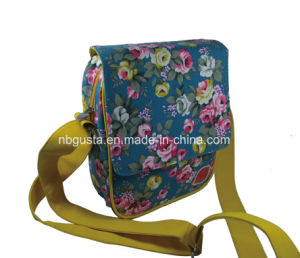 Fashion Canvas Backpack Strip Bag--Pd-14qj08