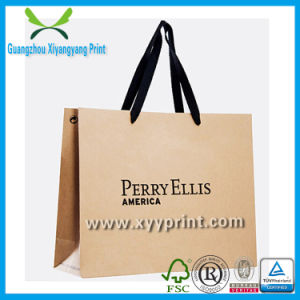 Custom Brown Kraft Paper Shopping Bag with Logo Print Gift Bag pictures & photos