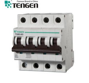 High Quality Tengen Tgb3-63 4p 45A 50A 63A MCB Circuit Breaker pictures & photos