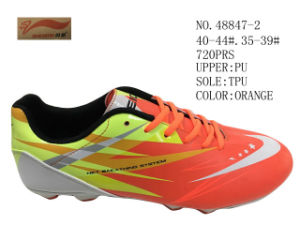 No. 48847 Three Colors Men Soccer Stock Shoes pictures & photos