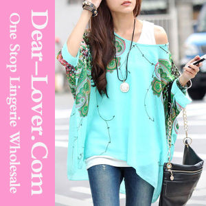 Casual Fashion Lady Long Sleeve Chiffon Shirt pictures & photos